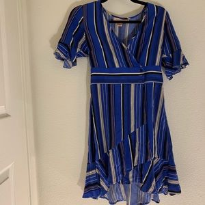Band of Gypsies Striped Boue Dress Size Small